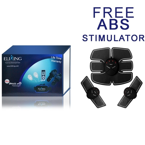 Electronic Pulse and Muscle Stimulator EMS IPro III Massager with FREE ABS Stimulator. Opens flyout.