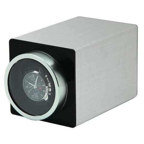 Watch Winders by Left and Right Rotations Black Metal 1-Watch Winder