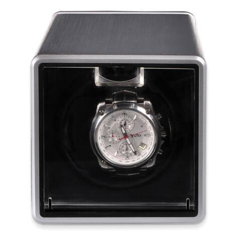 Watch Winders by Rotations Silver Metal Single Acrylic Watch Winder