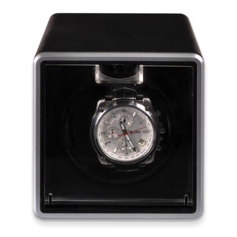 Watch Winders by Rotations Black Metal Single Velveteen Lining Watch Winder