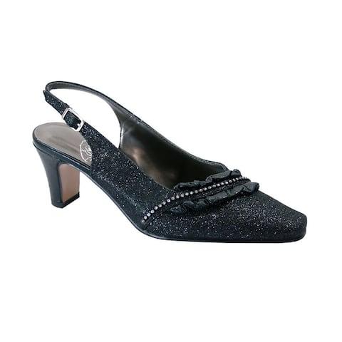 FLORAL Bloom Women Extra Wide Width Falbala Trim Slingback Shoes