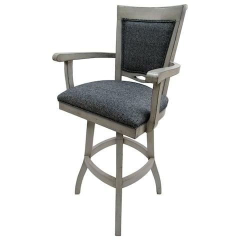"Swivel Wood Extra Tall Bar Stool 34"" 400 - Kokomo Azure - Antique Wh - 34 inch Seat"