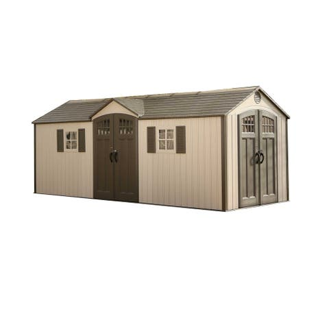 Lifetime 20 Ft. x 8 Ft. Outdoor Storage Shed - 20 x 8 Ft.