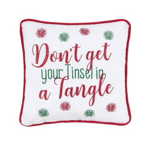 Tinsel in A Tangle Decorative Accent Throw Pillow