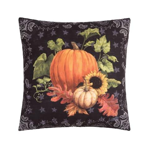 Pumpkin Fall Harvest Thanksgiving Indoor/Outdoor 18x18 Accent Decorative Accent Throw Pillow