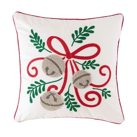 Jingle Bow Decorative Accent Throw Pillow