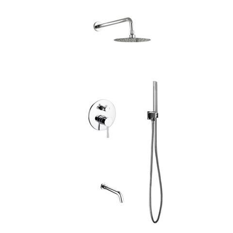"Aqua Rondo Shower Set w/ 8"" Rain Shower, Handheld and Tub Filler"
