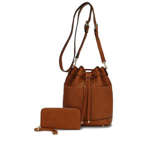 MKF Collection Rossi Bucket Crossbody/ Backpack with Wallet