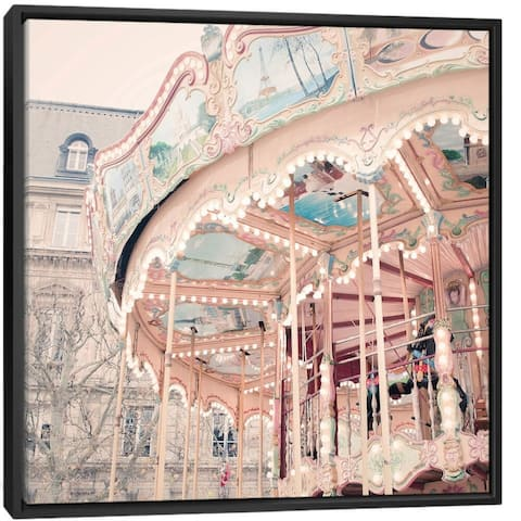 """iCanvas """"A Carousel in Paris"""" by Ruby and B Framed Gallery-Wrapped Canvas Print"""