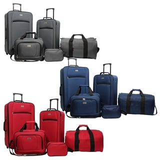 Dejuno Lightweight 5-Piece Rolling Luggage Set