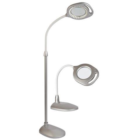 OttLite 2-in-1 LED Magnifier Floor and Table Light