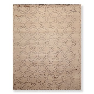 Link to Hand Knotted Wool & Bamboo Silk Oriental Area Rug Contemporary Moroccan Designer (8'x10') - 8' x 10' Similar Items in Transitional Rugs
