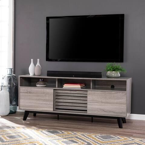 Strick & Bolton Crisham Contemporary Gray Wood Media TV Stand