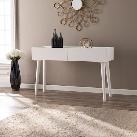 Carson Carrington Lacalle Contemporary White 2-Drawer Console Table