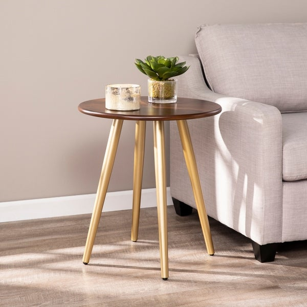 Carson Carrington Aeriallin Midcentury Modern Round End Table. Opens flyout.