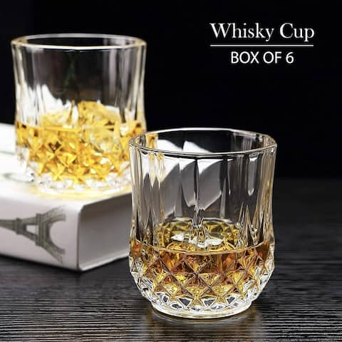 Whiskey Glasses Premium Crystal Style Spirit Rocks Glass set - Lead Free Glass Cups and Tasting Tumblers for drinking