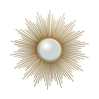 "Radiant Flair Gold 40"" Sunburst Mirror"