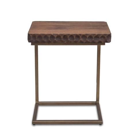Vallarta Two Tone Mango Wood Modern Side Table