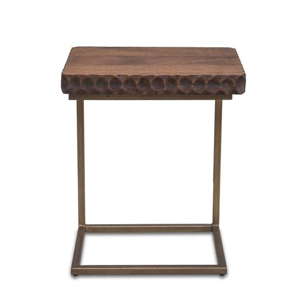 Vallarta Two Tone Mango Wood Modern Side Table. Opens flyout.