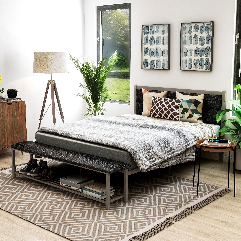Porch Den Sexton Modern Platform Bed With Bench On Sale Overstock 30143802