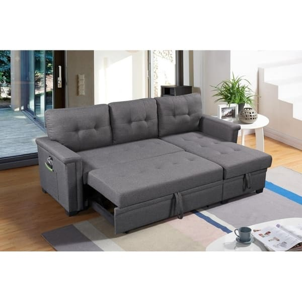 Magnificent Ashlyn Reversible Sleeper Sofa Storage Chaise Usb Charger And Pocket Creativecarmelina Interior Chair Design Creativecarmelinacom