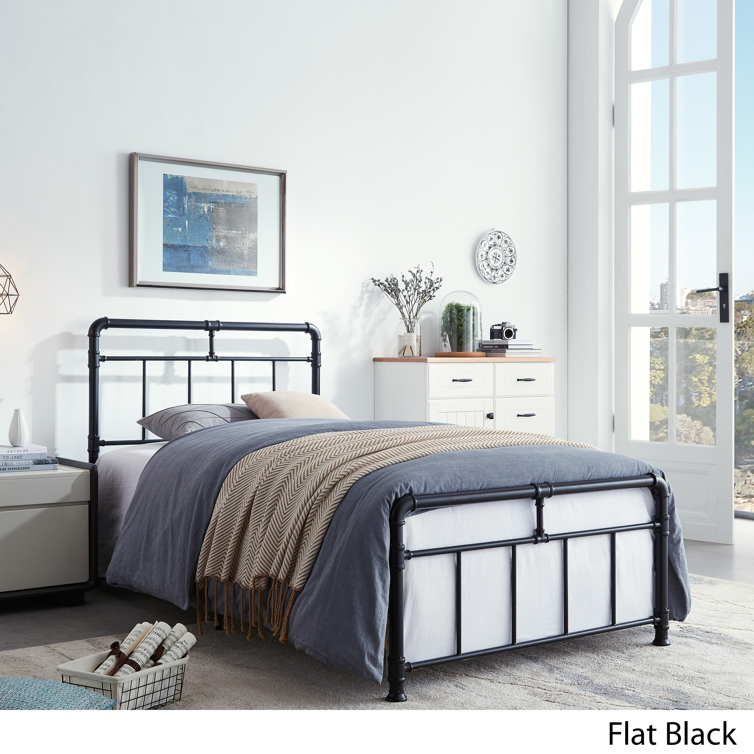 Mowry Industrial Iron Twin Bed Frame By Christopher Knight Home Overstock 30148022