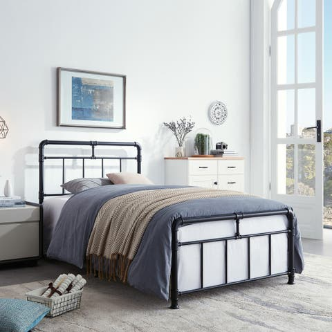 Mowry Industrial Iron Twin Bed Frame by Christopher Knight Home