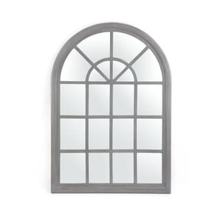 """Dunlap Traditional Arched Windowpane Mirror by Christopher Knight Home - 31.00"""" W x 1.25"""" L x 44.00"""" H"""