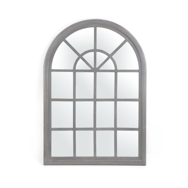 "Dunlap Traditional Arched Windowpane Mirror by Christopher Knight Home - 31.00"" W x 1.25"" L x 44.00"" H"