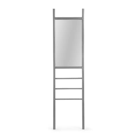 "Gardner Modern Ladder Mirror by Christopher Knight Home - 18.00"" W x 1.25"" L x 70.00"" H"