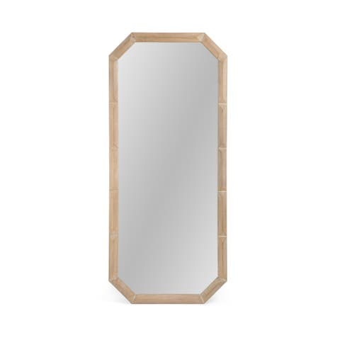 """Frederick Modern Standing Mirror with Carved Frame by Christopher Knight Home - 31.00"""" W x 1.30"""" L x 71.50"""" H"""