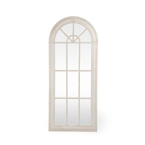 "Devereaux Traditional Arched Windowpane Mirror by Christopher Knight Home - 30.00"" W x 1.00"" L x 70.00"" H"