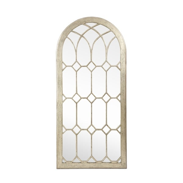 """Dipietro Traditional Arched Windowpane Mirror by Christopher Knight Home - 30.00"""" W x 1.50"""" L x 64.00"""" H. Opens flyout."""