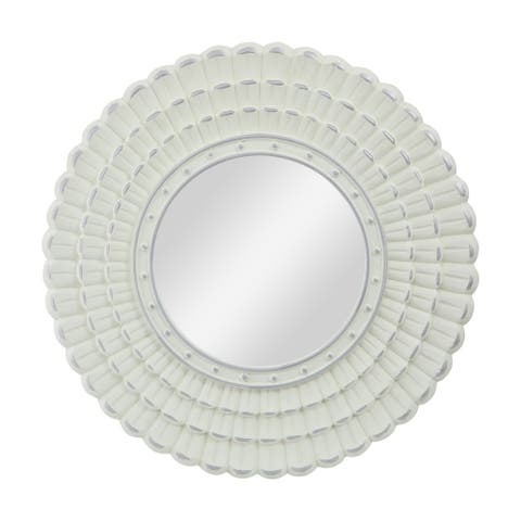 """Colby Modern Round Mirror with Carved Frame by Christpher Knight Home - 23.50"""" W x 0.75"""" L x 23.50"""" H"""