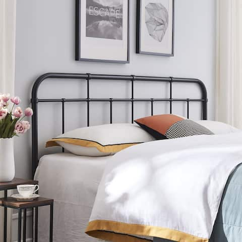 Crombie Industrial Iron Headboard by Christopher Knight Home