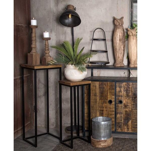 Carbon Loft Dixon Pedestal Plant Stand Tables (Set of 2). Opens flyout.
