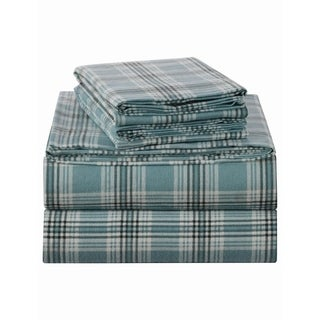 Sleepworld International Enviohome Heavyweight 160 Gsm Cotton Flannel Bed Sheet Set Twin Xl Green Plaid From Overstock Com Daily Mail