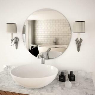 "Wall Mirror 23.6"" Round Glass"
