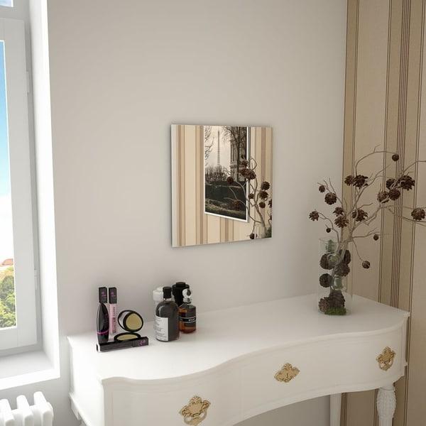 "Wall Mirror 15.7""x15.7"" Square Glass"