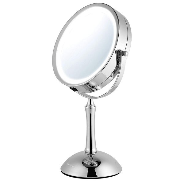 Shop Ovente 7 5 Inch Dimmable Led Lighted Tabletop Vanity
