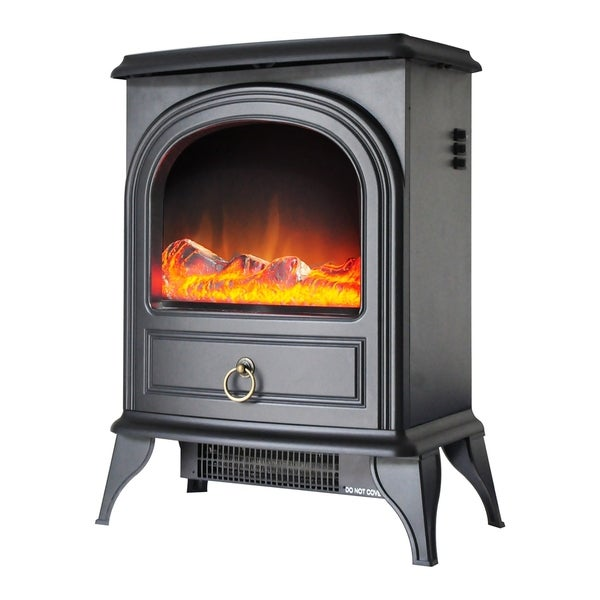 Black Freestanding Electric Fireplace/Heater/Stove
