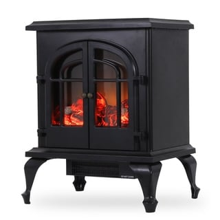 Freestanding Electric Fireplace / Stove Heater in Compact Space