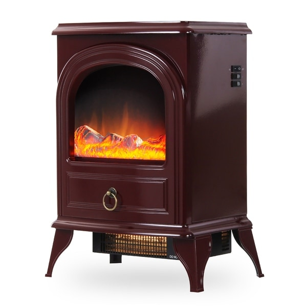 Red Freestanding Electric Fireplace/ Heater/ Stove