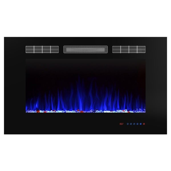 36 Inch Recessed Electric Fireplace Insert with Remote