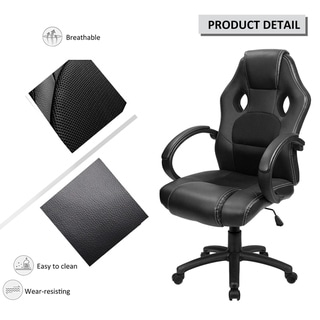 High Back Ergonomic Racing Chair Swivel Executive Computer Chair Headrest and Lumbar Support