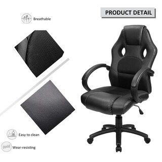 High Back Ergonomic Racing Chair Swivel Executive Computer Chair Headrest and Lumbar Support