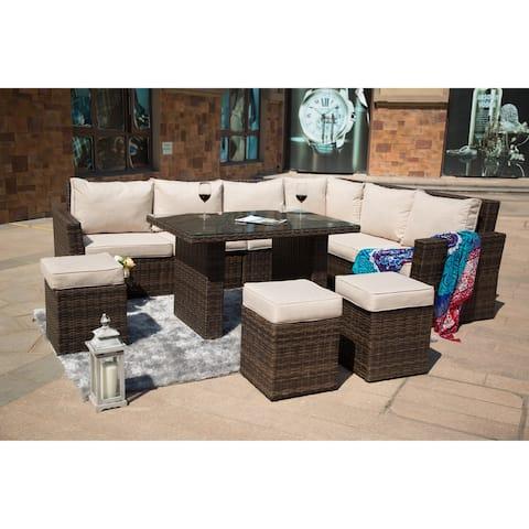 8-piece Outdoor Wicker Sofa Patio Set by Moda Furnishings