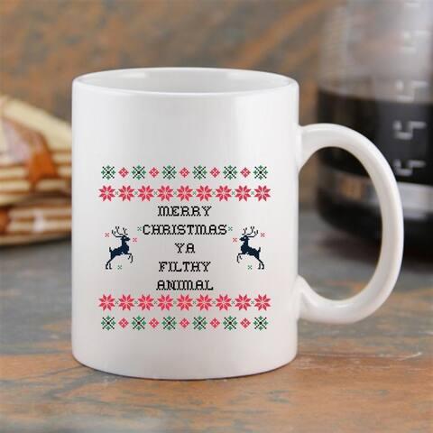 """""""Merry Christmas Ya Filthy Animal"""" Coffee Mug"""
