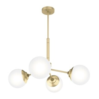 Link to Hunter Hepburn 4 Light Chandelier - Modern Brass - Modern Brass Similar Items in Chandeliers