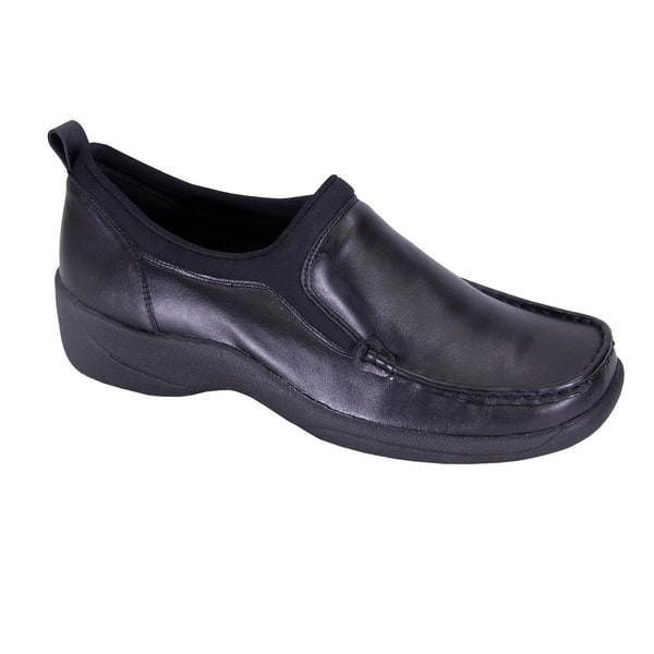 Boulevard Womens//Ladies Touch Fastening Extra Wide Summer Casual Leather Shoes
